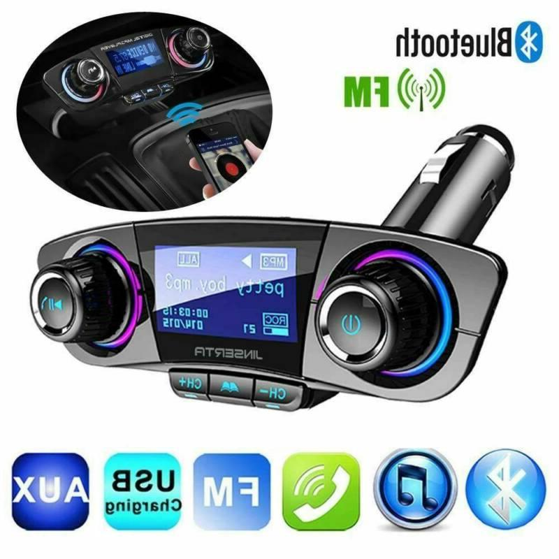bluetooth car fm transmitter mp3 player hands
