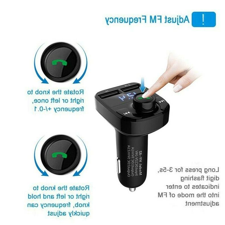 Bluetooth MP3 Player Wireless Radio Fast Charger X8