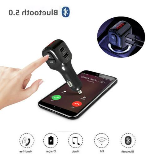 Bluetooth Car FM MP3 Player Adapter Kit Charger Outlets