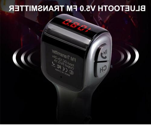Bluetooth MP3 Kit USB Charger 2 Outlets
