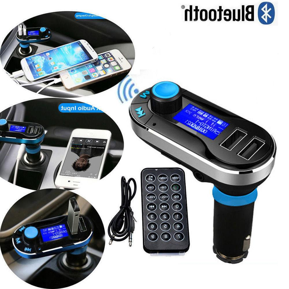 bluetooth car fm transmitter mp3 player radio