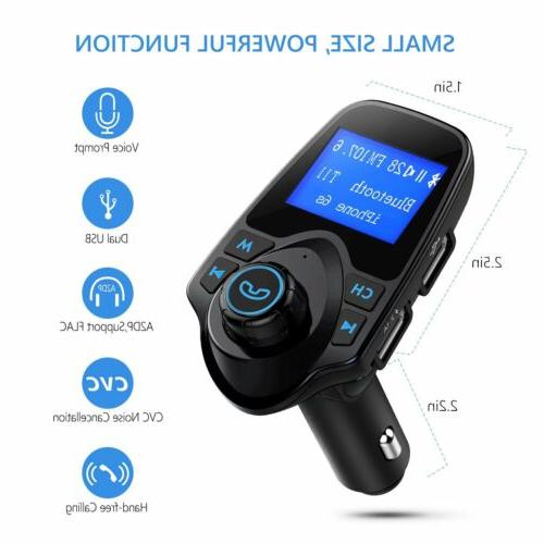 Bluetooth Car FM Transmitter Wireless Radio Charger