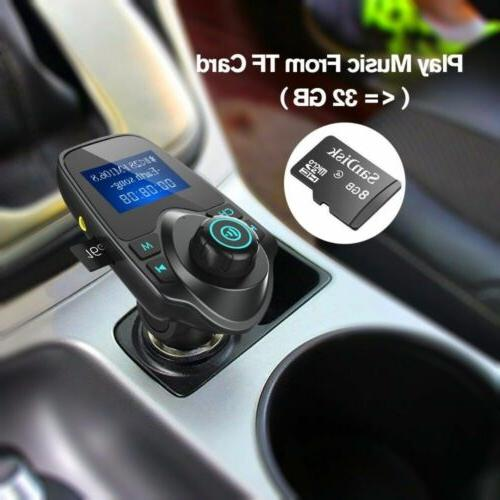 Bluetooth Car Kit Player Transmitter Wireless Radio Adapter USB
