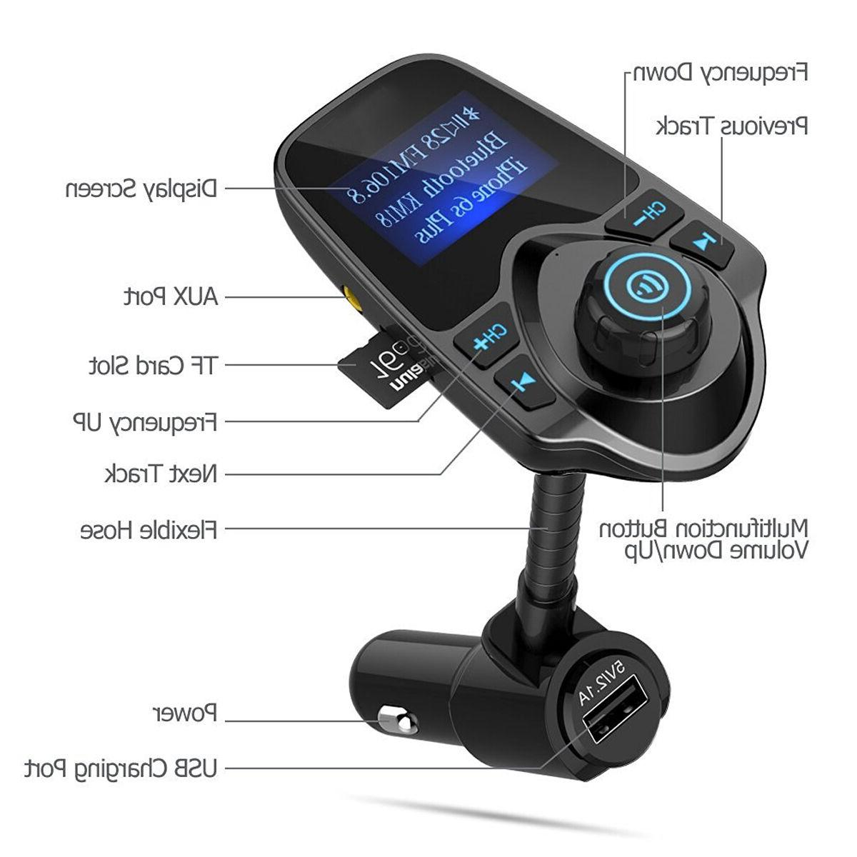Bluetooth Kit Player FM Transmitter Wireless Radio Adapter