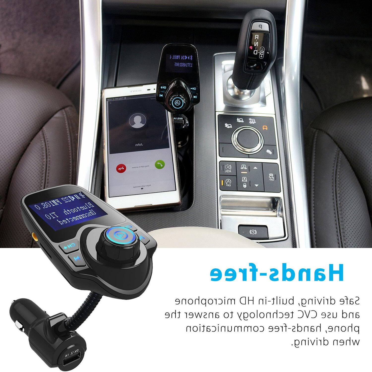 Bluetooth Car Kit Player FM Transmitter Radio USB