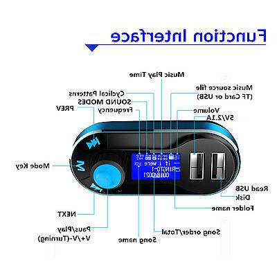 Bluetooth Car Transmitter MP3 Radio Charger