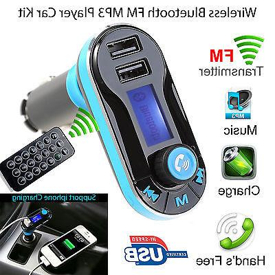 Bluetooth Car FM Transmitter MP3 Player Hands free Radio Kit Charger
