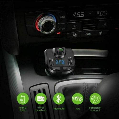 Bluetooth Car Set Transmitter Radio MP3 Player USB Charger Wireless
