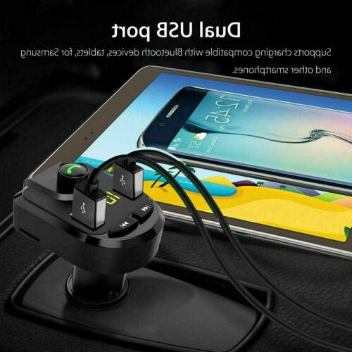Bluetooth Transmitter Radio USB Charger