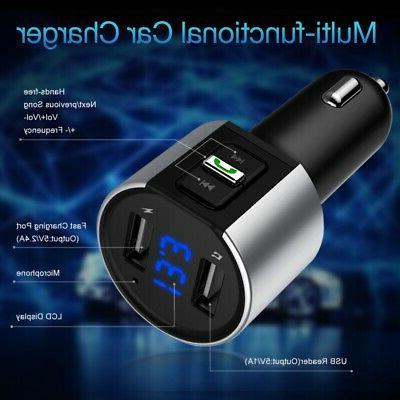 Bluetooth Dual Charger Wireless FM Transmitter