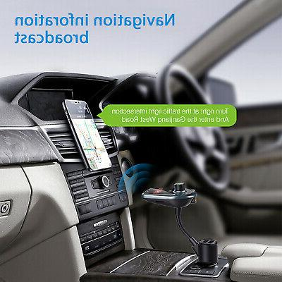 Bluetooth FM MP3 Hands free Radio Adapter Charger
