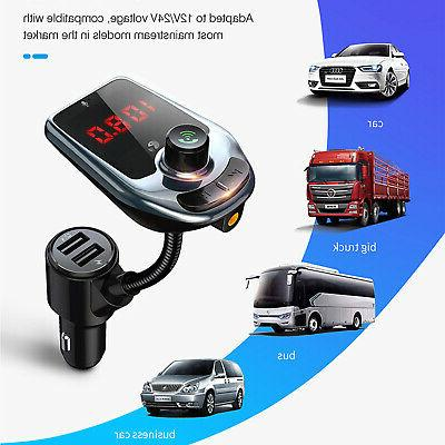 Bluetooth Car MP3 Hands Radio Adapter Kit Charger