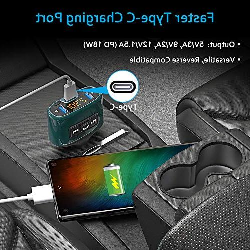 Bluetooth FM Wireless Receiver Car Kit with USB Port USB Support Flash Drive, Calling