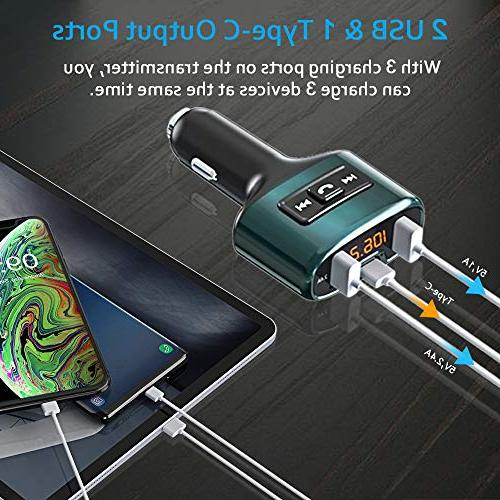 Bluetooth Wireless Radio Car Kit USB Charger Port 5V/2.4A Dual USB Flash