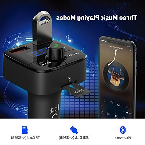 for Quick Charge 3.0 Transmitter with Hands-Free Calling & Dual USB U for Samsung