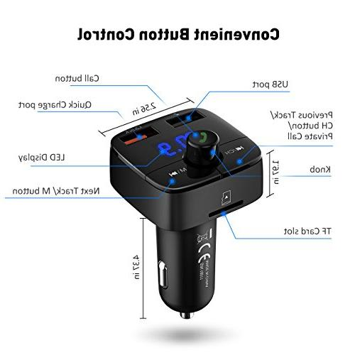 VicTsing for 3.0 with Hands-Free Dual USB Player TF U iPhone, Samsung and More