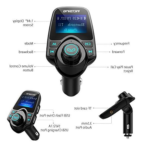 """for Wireless Radio Hand-Free Calling 1.44"""" LCD Music Support TF Flash"""