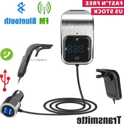 bluetooth fm transmitter radio mp3 player