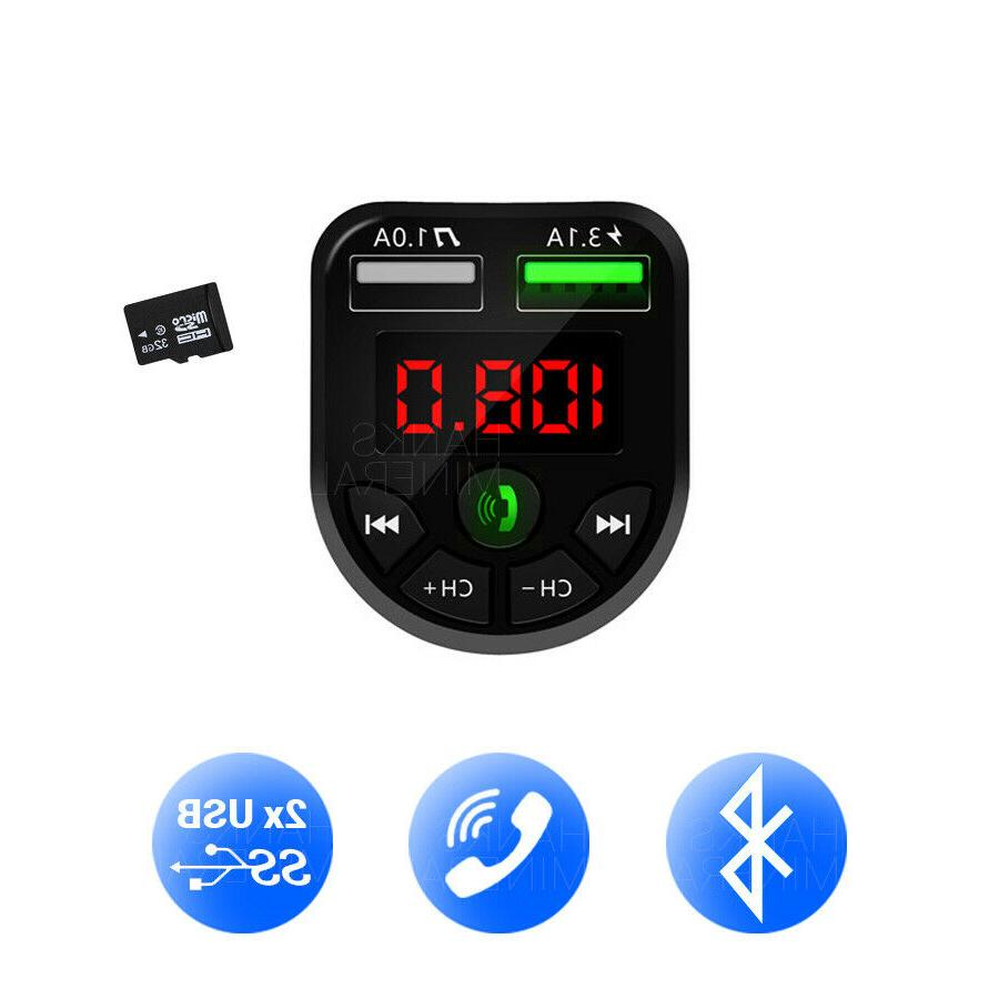 Bluetooth FM Transmitter Wireless Adapter Radio