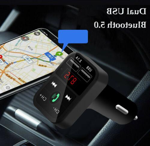 Bluetooth In-Car Radio Adapter Charger For
