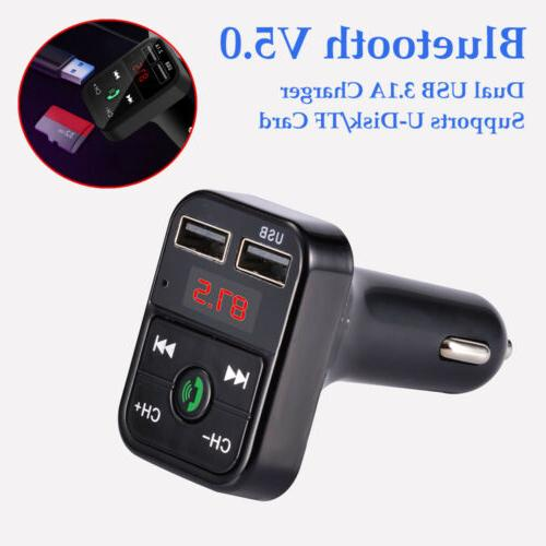Bluetooth Transmitter Wireless In-Car Adapter USB Charger For 11