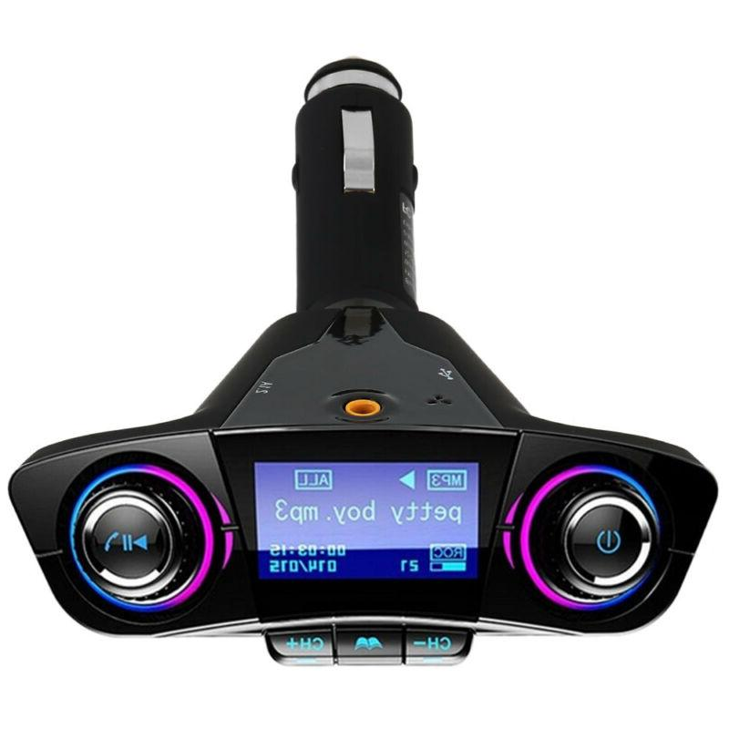 Wireless Bluetooth Player Transmitter LCD USB