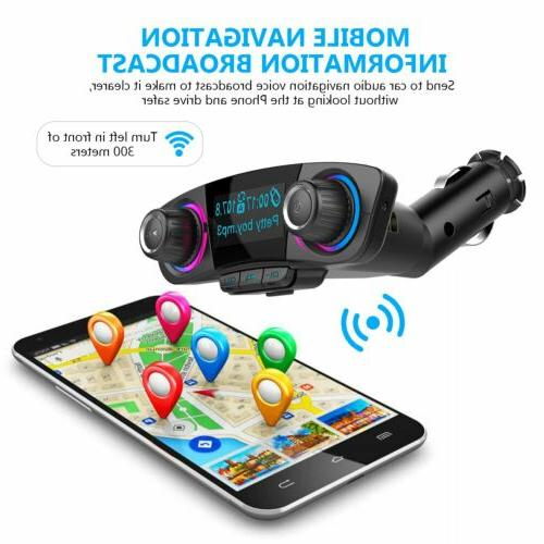 Bluetooth Car Kit FM Transmitter Audio MP3
