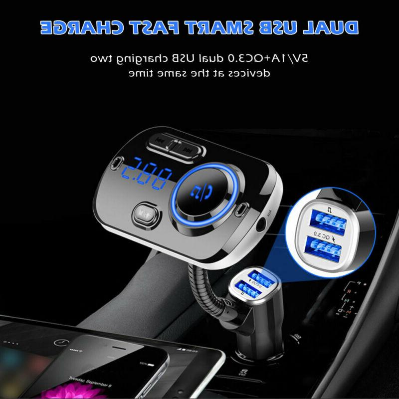 Bluetooth FM Transmitter Radio Adapter Kit USB