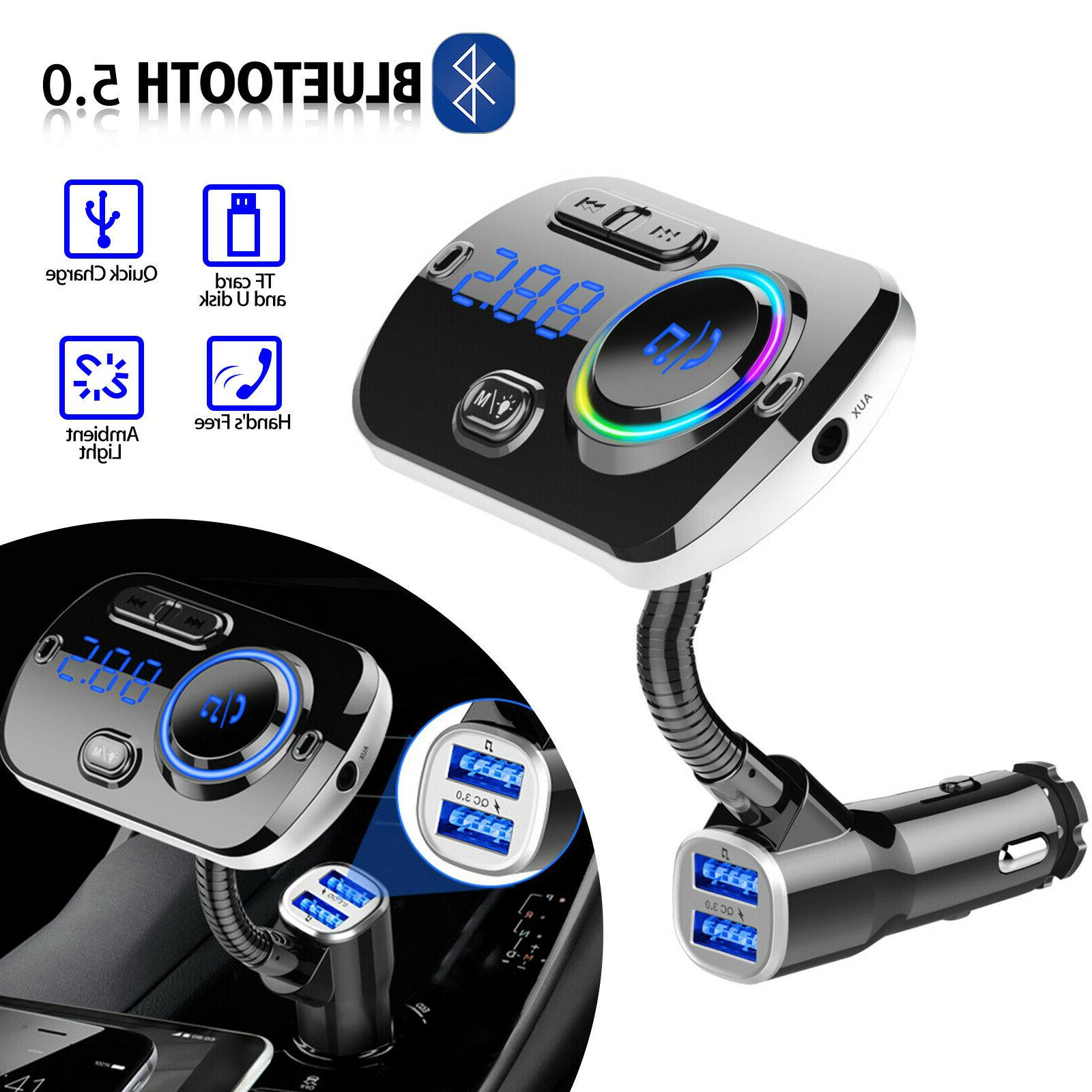 bluetooth in car wireless fm transmitter mp3