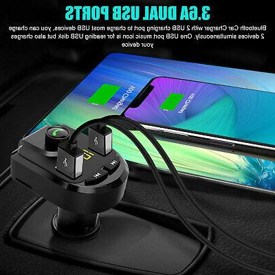 3.6A Radio Wireless Car Kit 2 Charger