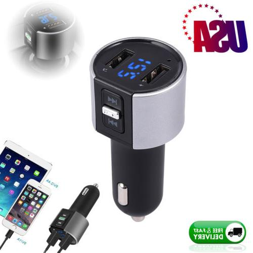 Bluetooth Wireless Car Kit USB Charger FM Transmitter Radio