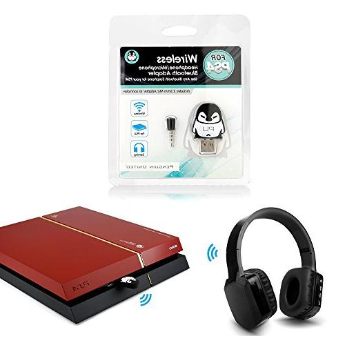 Bluetooth Wireless Gaming Earphones Adapter For Sony Ps4
