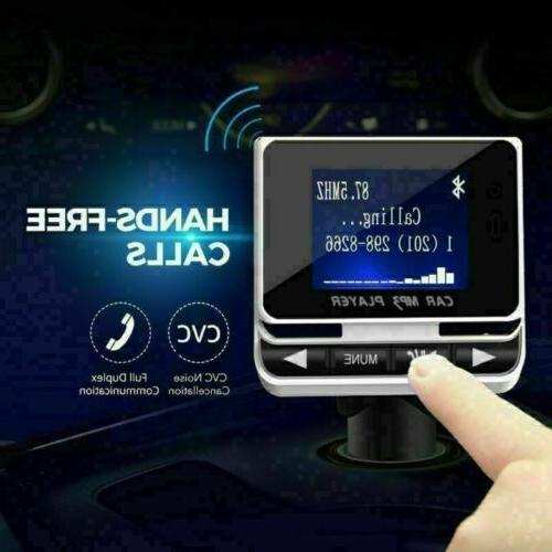 Bluetooth LCD Car MP3 Player FM + Remote Charger Kit