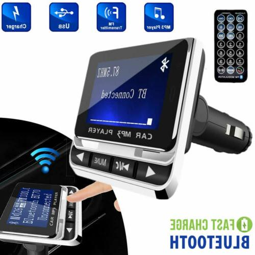 bluetooth wireless lcd car mp3 player fm