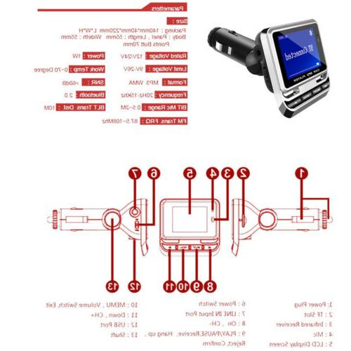 Bluetooth LCD MP3 + Remote USB Charger