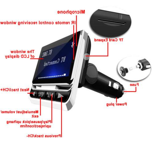 Bluetooth Wireless LCD Car MP3 Player + Charger Kit