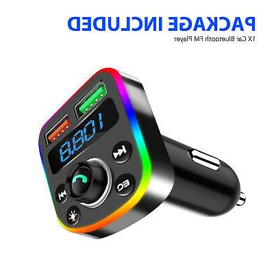 In-Car Bluetooth Kit Dual USB Charger Radio