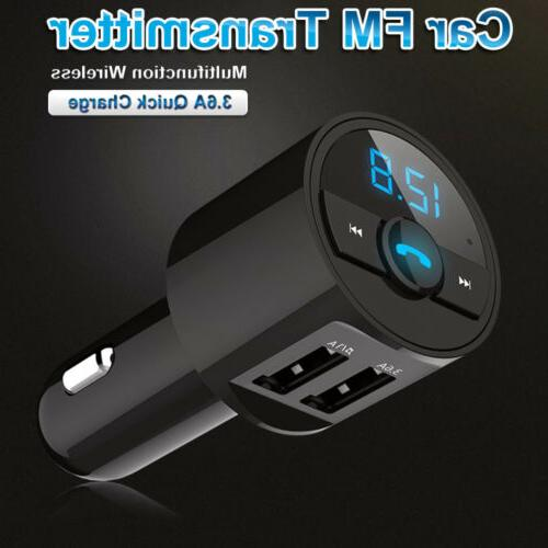 Car Bluetooth FM Transmitter Radio Kit Charger