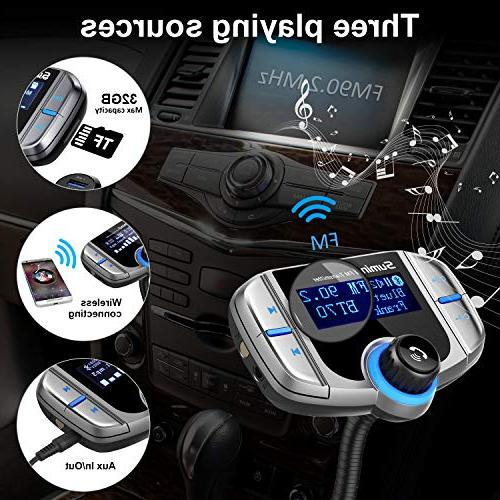 FM Radio Adapter 1.7 Inch Ports, AUX Input/Output, Card Mp3 Player