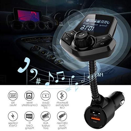 in-Car FM Wireless Adapter Car Kit with Mp3 Player Dual Ports Input/Output Function Audio