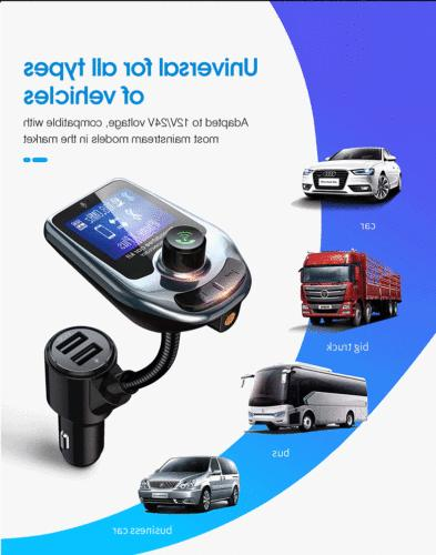 Car Bluetooth Wireless FM Transmitter Player Adapter Charger Kit