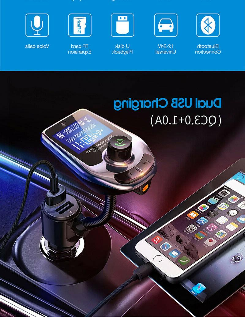Car Wireless FM Transmitter Player Radio Adapter USB Charger