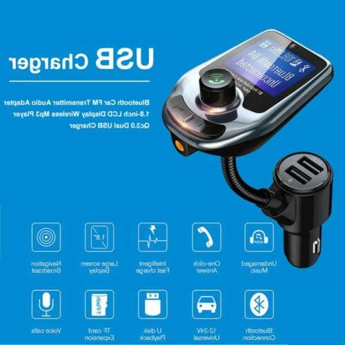 Car Bluetooth Transmitter MP3 Adapter USB Charger Kit