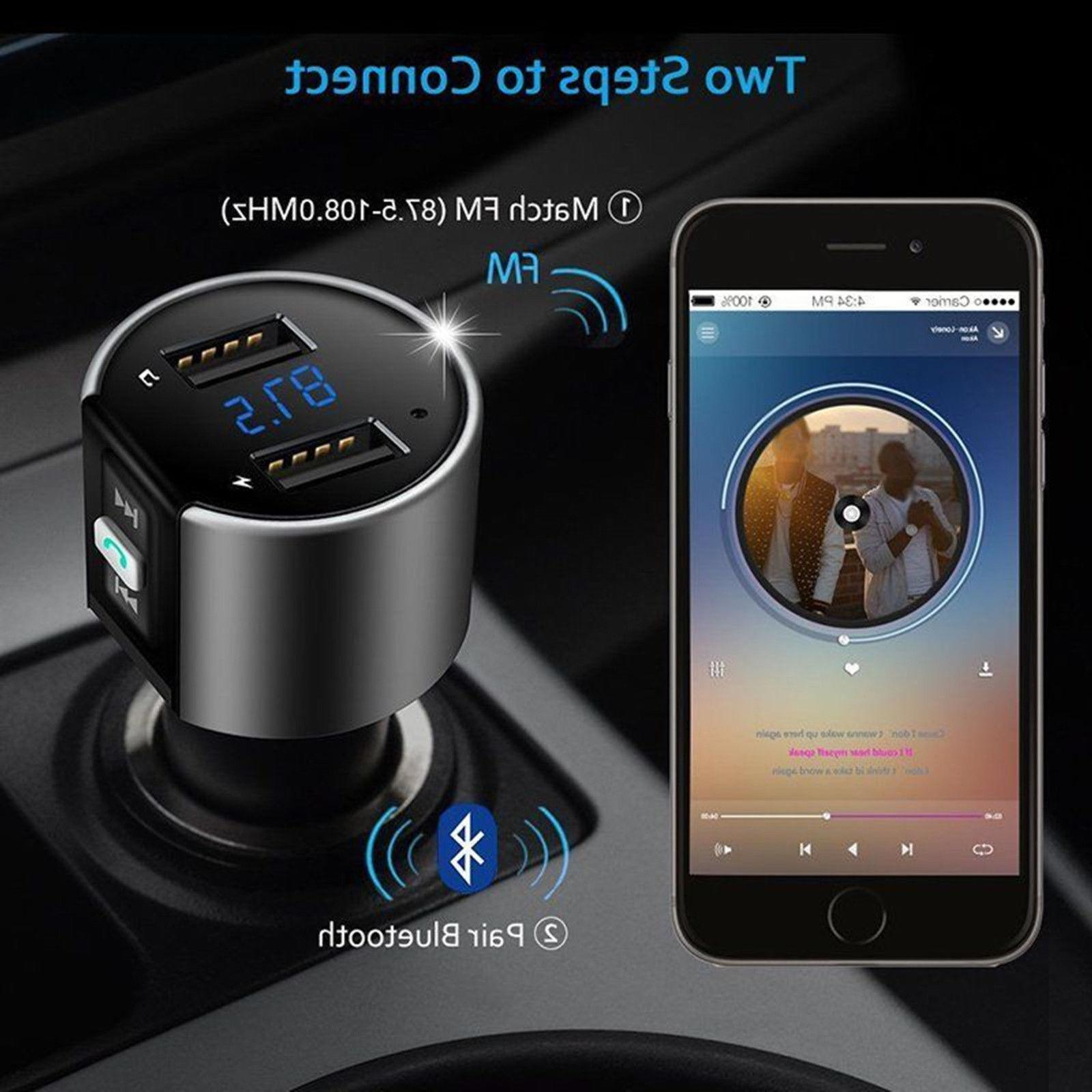 Car Plug Bluetooth FM Transmitter MP3 Radio Kit Charger