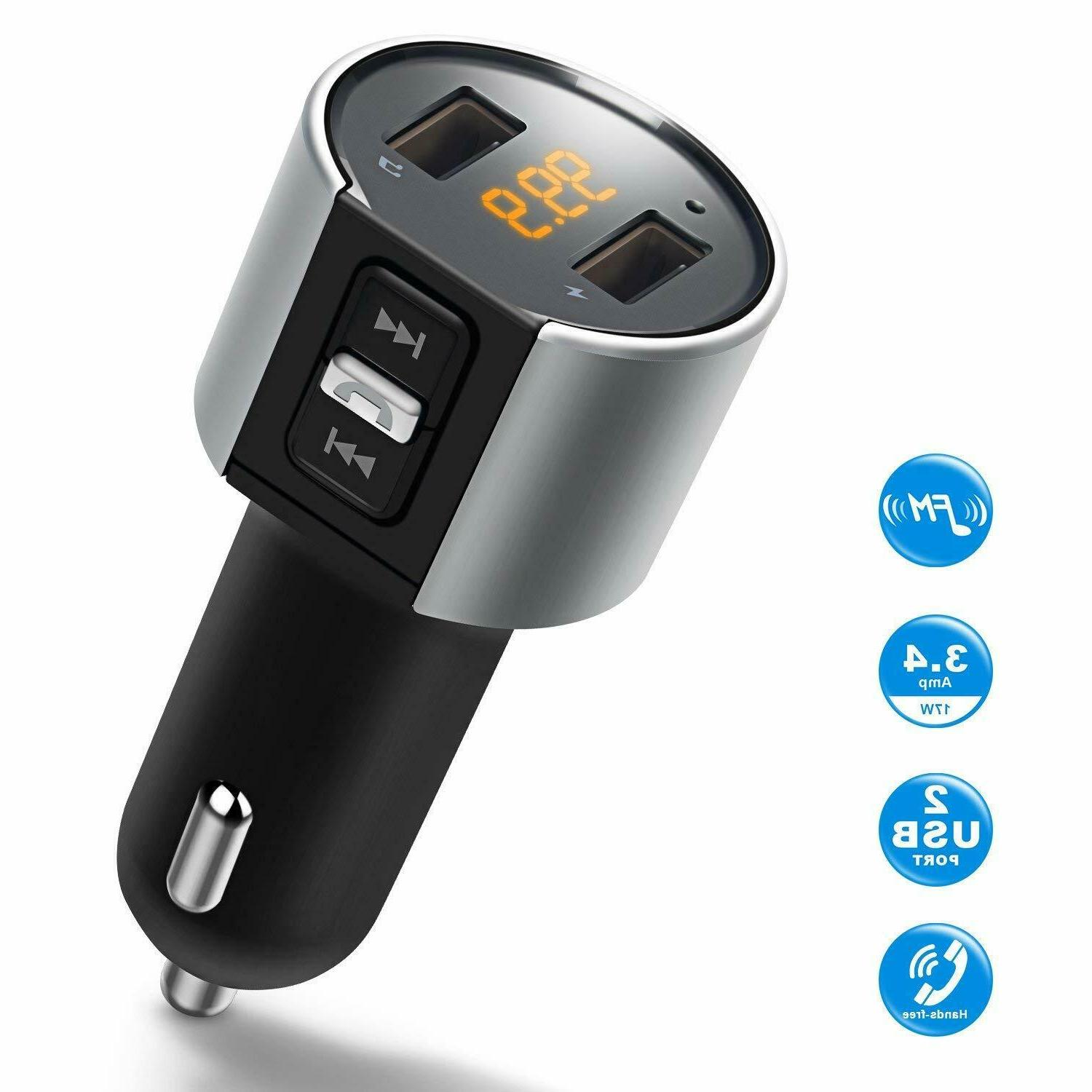 car cigar plug bluetooth fm transmitter mp3