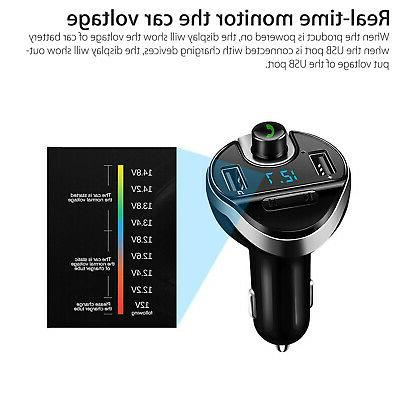 Wireless In-Car BT FM Transmitter Radio Car Fast Charger