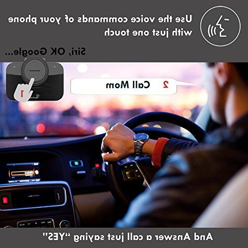 VeoPulse 2B with Cellphone Connection Hands-Free kit Talking Driving Wireless -Kit Compatible with Vehicles and