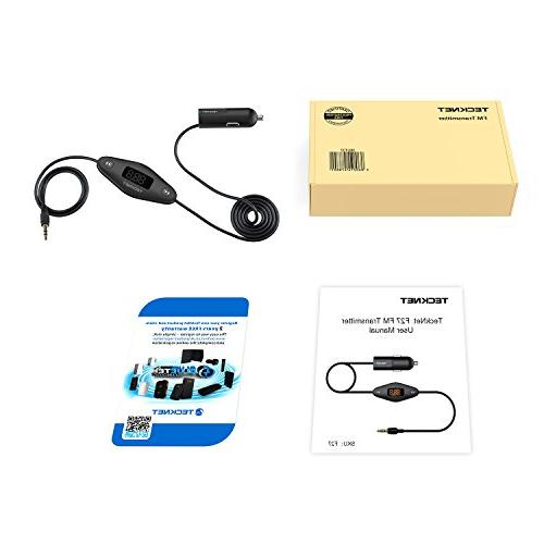 TECKNET In Universal FM Transmitter with Plug and USB Charger