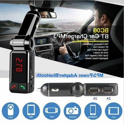 Car Transmitter Radio Adapter Charger for Cell