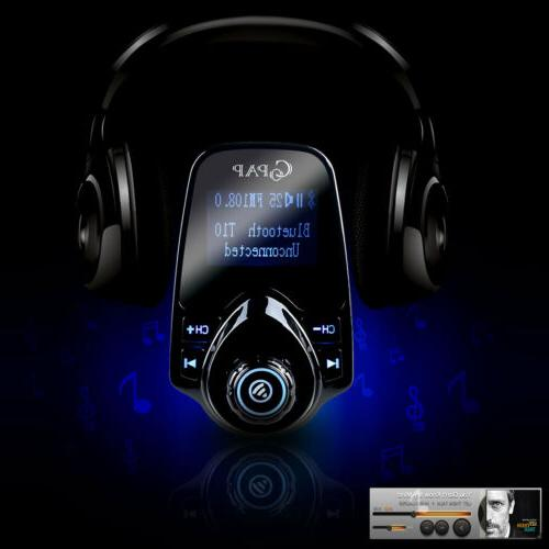 Car Wireless FM Transmitter Adapter Player Charger